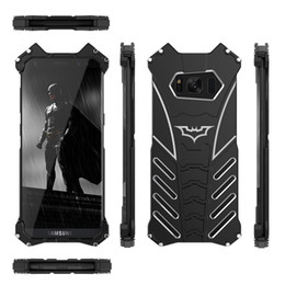 $enCountryForm.capitalKeyWord UK - Wholesale R-JUST batman for samsung galaxy S8 metal aluminum Shockproof Cover case s8 plus Armor anti-knock phone cases