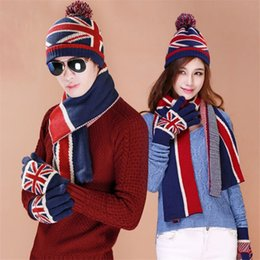 $enCountryForm.capitalKeyWord Canada - Pre-Design Lovers Knitted Winter Women Scarf Hat Set Striped Double Thicken Warm Men Scarves Fashionable UK Flag Print Xmas Gift