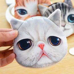 $enCountryForm.capitalKeyWord Canada - New Cartoon Coin Wallet For Children 3D Cute Cat Face Coin Purse Female Money Storage Pouch Women Zipper Coin Bag