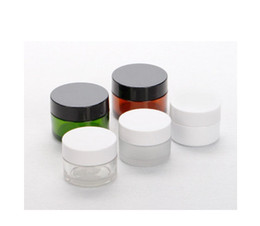 plastic inserts Canada - 2017 New 30g Empty Amber Pet Skin Care Cream Jar With Plastic Lids with Insert Cosmetic Container