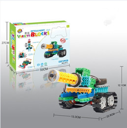 $enCountryForm.capitalKeyWord NZ - DIY Variety Building Blocks Remote Control Electric Robot Tank Car Science and Education Childrens Puzzle Blocks Christmas Gifts for kids