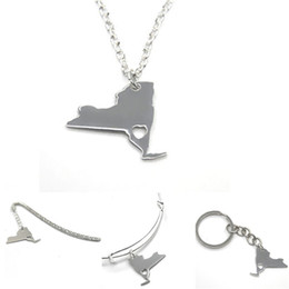 $enCountryForm.capitalKeyWord Australia - US State map necklace New york silver tone New york necklace bangle keyring bookmark