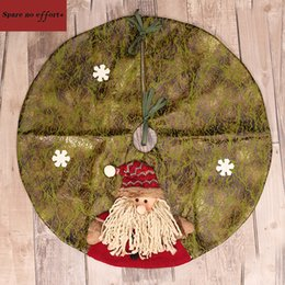 Large Artificial Cloth Craft Christmas Tree Skirt 60Cm 3D Ornament Decorations For Home Outdoor