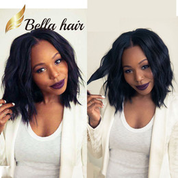 bob cut black hair 2019 - Popular Wigs Bob style Silky Straight Natural Black Full Lace Wig 100% Human Hair Wigs Short Cut Front Lace Wigs Bella H