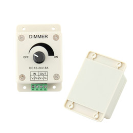 Led brightness controLLer online shopping - Dimmer DC V A LED Light Protect Strip Dimmer Adjustable Brightness Controller Hot Selling In Stock