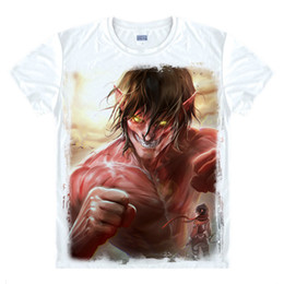 attack titan shirts NZ - Anime Shirt Attack on Titan T-Shirts Multi-style Short Survey Corps Eren Jaeger Cosplay Motivs Shirts Tee-Style070-1-NO11