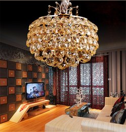 Discount lustre bar FUMAT Apple K9 Crystal Lights Luxury Amber Pendant Lamp Modern Creative Living Room Hotel Bar Project Lustre Suspension