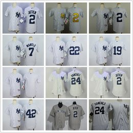 Youth and womens New York Yankees Jerseys 42 42 Mariano Rivera 2 Derek . 6951d5f86
