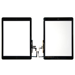 High quality Touch Screen Glass Panel Digitizer with Buttons Adhesive Assembly for iPad Air free DHL on Sale