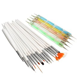 Wholesale New Nail Art Design Set Dotting Painting Drawing Polish Brush Pen Tools H7JP
