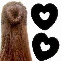 Black Hair Donut Bun Heart Maker Magic Foam Sponge Princess Hairstyle Hairbands on Sale