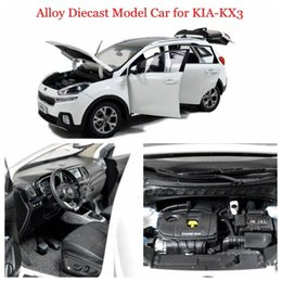 big sale brand new diecast model car of kia kx3 white 1 18 scale toys open doors retail and wholesale for paudimodel