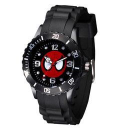 $enCountryForm.capitalKeyWord UK - Cartoon Boy girl children students Spiderman style Black Silicone strap quartz wrist watch 03