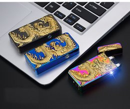 $enCountryForm.capitalKeyWord NZ - 3D Eagle Dragon Arc Lighter USB Rechargeable Lighter Creative Design Electric Double Arc windproof flameless electronic lighters