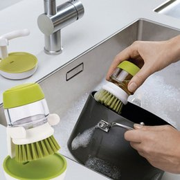 Hydraulics tools online shopping - Pan Brushs Multi Function Plastic Hydraulic Tableware Brush For Household Clean Tools Kitchen Articles Wash Convenient sm C R