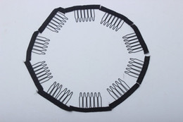 Wholesale FREE GET Hair Combs For Wigs Black Brown Color 10pcs Hair Clips 5 Teeth Stainless Steel Wigs Combs For Making Wigs