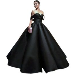 China 2018 black Evening Dresses Ball Gown Plus Size Sexy off the shoulder beaded Prom Dresses Long Formal Black Gowns 2017 Vestidos de Formatura supplier long maternity ball gowns suppliers