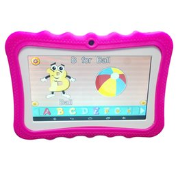 $enCountryForm.capitalKeyWord Australia - NEW Cheap 7 inch Children's tablet Quad Core Allwinner A33 Android 4.4 KitKat Capacitive 1.5GHz 512MB 8GB Dual Camera DHL free shipping
