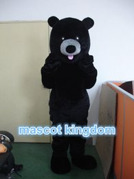 Costumes D'ours Noir Adultes Pas Cher-Black Bear Mascot Costume Cartoon Fancy Dress Livraison gratuite Taille des adultes EPE Head