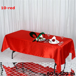 cheap tablecloths wholesale NZ - Good Quality And Looking Rectangular Satin Table Cloth \ Cheap Wedding Tablecloth Free Shipping