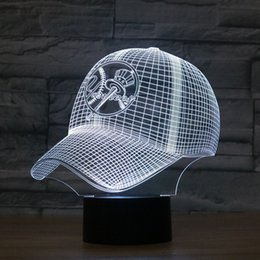 online shopping New York Yankees Baseball Team Cap D Light Hat Nightlight Led Desk Table Lamp for Kids Sleeping Light Light Up Toy