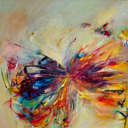 butterfly oil canvas NZ - Pure Hand Painted Abstract Animal Art oil painting Butterfly,Home Wall Decor On High Quality Canvas size can be customized