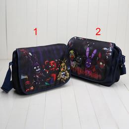 Discount gift bags dhl shipping - 2style Baby Five Nights at Freddy's bag backpack children schoolbag FNAF one-shoulder bag Children gift 34*26*9cm D