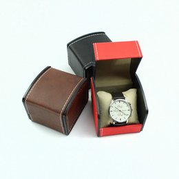 Luxury Display Cases Canada - Fashion PU Black Watch Box luxury Storage Box With Pillow Package Case Watch Holder Jewelry Organizer Display Gift Box ZA3463