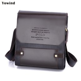 Chinese  Wholesale- YOWIND New Arrival Fashion Business Leather Men Messenger Bags Promotional Small Crossbody Shoulder Bag Casual Man Bag manufacturers