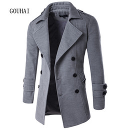 Discount Mens Cotton Peacoat | 2017 Mens Cotton Peacoat on Sale at ...