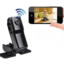 Camera pC video wireless online shopping - Portable Wifi Network Camera Video Recorder Mini DV Action Camcorder for Iphone Android Ipad PC Remote View MD81 MD81S