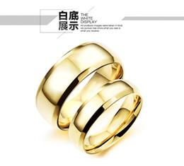 Vente en gros Meilleur Qualité Mode Titanium acier Bague En Or pour Hommes et Femmes Couple Anneaux Anneaux De Fiançailles De Mariage Band nouvel anneau bijoux N23