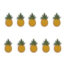Chinese  10 PCS pineapple embroidery patches for clothing iron patch for clothes applique sewing accessories stickers on clothes iron on patches DIY manufacturers