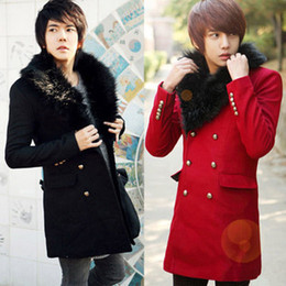 Red Trench Coat Men Online   Long Red Trench Coat Men for Sale