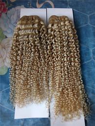 $enCountryForm.capitalKeyWord NZ - Blonde #613 Brazilian Virgin Human Hair Weaves 12-28Inch Deep Wave Curly Hair Extensions 7A Grade High Quality Human Hair Weft