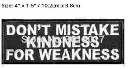 outlaws patches NZ - DON'T MISTAKE MY KINDNESS FOR WEAKNESS Outlaw Club Rider Rock Heavy Metal biker vest Costume Embroidered iron on patch badge