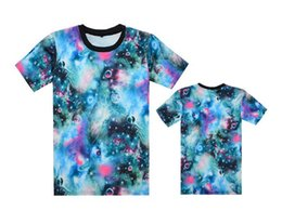Galaxy Shorts Red Orange Canada - 2017 Europe Popular New T Shirt Men Sport Short Sleeve galaxy Printed flower Hip Hop T Shirt Men's Hipster Clothing Streetwear Tees Shirts
