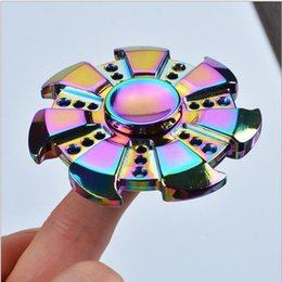 US dollars Rainbow EDC Hand Fidget Spinner Finger Alloy Gyro Focus Autism