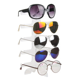 Forme a cinco pares de vidrios soporte sostenedor de Sunglassess Organizador del hogar Gafas de sol Rack Men Women's Glasses Shelf Display en venta