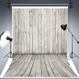 lighting backdrops photography NZ - SUSU 5x7ft Digital Printing Photography Backdorps Light Gray Wood Backdrop for Photographer Wrinkles Free for Baby