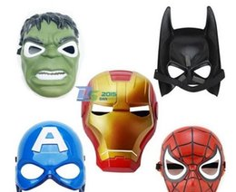 Barato Fantasia De Super-heróis Pvc-Superhero Kids Children Capitão América Avenger Traje de Máscara Halloween Party Toy