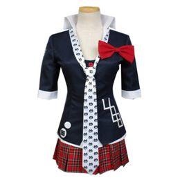 Ingrosso Vestito da marinaio in tessuto uniforme di Malanaike Super Dangan Ronpa 2 Junko Enoshima Cosplay