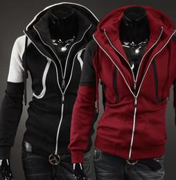 $enCountryForm.capitalKeyWord Canada - The new 2017 qiu dong outfit man han edition leisure double zipper cardigan hooded fleece jacket Men's jacket fleece