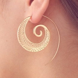american gears Canada - New Punk Vintage Silver Gold Color Geometric Round Spiral Gear Drop Earrings For Women Christmas Gifts 9 Designs Mix MM