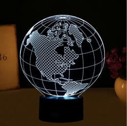 Globe map ball online shopping globe map ball for sale 3d visual effect america map shape globe shape led night light for decoration ball atmosphere diy night lamp gumiabroncs Gallery