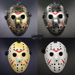 Full Face Hockey Mask Australia - Wholesale-New Jason vs Friday The 13th Horror Hockey Cosplay Costume Halloween Killer Mask