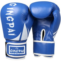 c99e1708d 10Oz Adult Kick Boxing Gloves Muay Thai Luva De Boxe Training Fighting  Women Boxing Gloves Grappling MMA Gloves Gear Red Black Blue