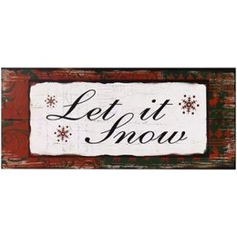 $enCountryForm.capitalKeyWord UK - Chalk Board Sign - Decorative Wood Wall Hanging Sign Let It Snow Red Green White Home Decoration