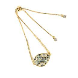 $enCountryForm.capitalKeyWord NZ - Hot sale Charming Woman Jewelry Bracelet Drop Shape Micro Pave Charm Cubic Zircon Charm Chain Bracelet ICSL029