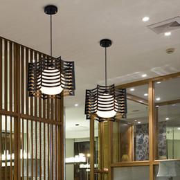 Wrought Iron Pendant Light Modern Brief Lighting Fitting Bedroom Lamp E27 5w White Black Body